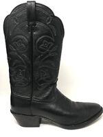 Ariat Ladies Heritage Western Black R Toe Deertan Boot 10001037 Size 9 B