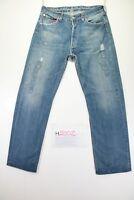 Levi's 501 Customized (Cod. H2002)Tg48 W34 L34 ACCORCIATO jeans usato Levis