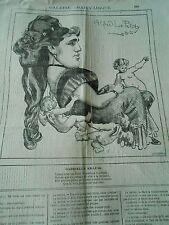 Caricature 1877 - Galerie Charivarique Gabrielle Krauss