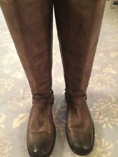 FRYE DISTRESSED BROWN RIDING WESTERN BOOT, WOMEN'S SIZE 10 MED