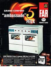 Publicité Advertising 088  1966   cuisinière Far tous gaz 5 feux