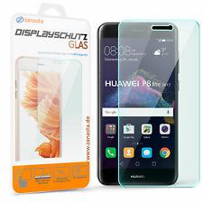 Displayschutz Glas für Huawei P8 Lite 2017 Schutz Folie Schutzpanzer Glasfolie