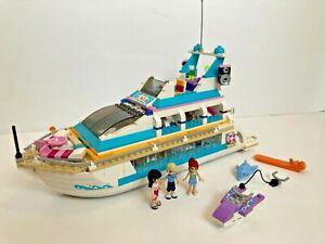LEGO Friends - Dolphin Cruiser (41015) - Luxury Yacht, White Boat w/ Slide VGC