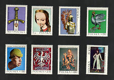 POLAND 1973 - Set of 8 Stamps - Examples of Polish Art - #1961 - #1968