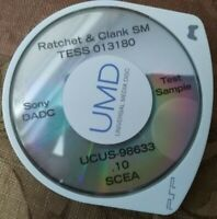 Prototype Test UMD Game Disc Sony PSP Ratchet & Clank Size Matters Version .10!