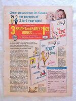 1970 Magazine Advertisement Page Dr. Seuss Kids Children's Books Book Vintage Ad