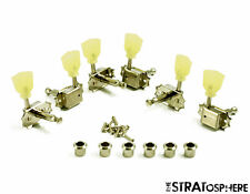 NEW Kluson Traditional NICKEL PEARL 3x3 TUNERS for Gibson Vintage Single SD90SLN