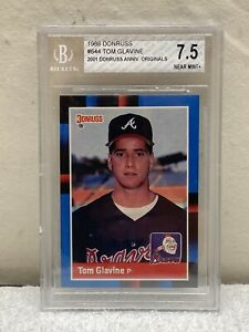 1988 Donruss baseball card #644 Tom Glavine, Atlanta Braves graded 7.5 Beckett
