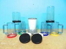 Blender 17 Pieces kitchen smoothie chop blend cook single storage cups lids