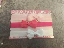 Plain 3pcs/SetBaby Girl Headband Ribbon Elastic Kids Hair Band Newborn Bow