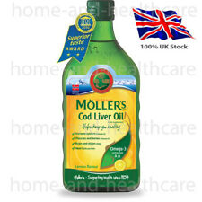 MOLLER'S Mollers Fish Oil OMEGA-3 -LEMON Flavour/Taste - Children Adults Elderly