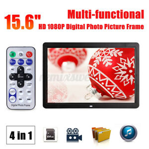 "15.6"" Digital Photo Frame Electronic Picture Video Player Movie Album HD Dispaly"