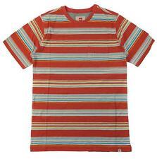 Quicksilver Big Boys Red Striped Pocket Tee Size 12 (Medium)