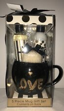 Sparkle & Sweet 5pc Mug Gift Set w/ Matching Makeup Bag