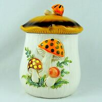 "Vintage Merry Mushroom Ceramic 11"" Cookie Jar With Lid Sears Roebuck 1976 Japan"