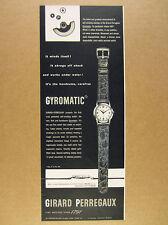 1950 Girard-Perregaux GYROMATIC Watch self-winding vintage print Ad