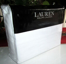 RALPH LAUREN Queen Sheet Set 4piece SOLID WHITE