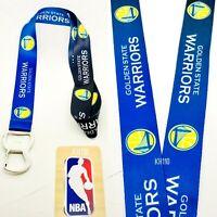 NBA Golden State Warriors Keychain & Bottle Opener Lanyard