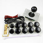 Arcade DIY Kit Parts USB Encoder To PC OEM Sanwa 5pin Joystick + 10 Button Black