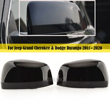 PAIR Mirror Cover Trim Cap For Jeep Grand Cherokee & Dodge Durango 2011-2020 L&R
