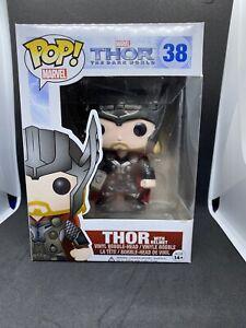 Funko POP! Thor with Helmet #35 The Dark World. Marvel. Rare.
