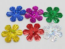 420 Mixed Color 24mm Large Flower Loose sequins Paillettes Hole Sewing Wedding