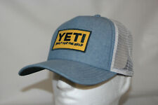 New listing Yeti Coolers Deep Fit Foam Patch Mesh Trucker Snapback Hat in Chambray Osfa