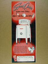 1950 Speed Queen Washing Machine laundry vintage print Ad