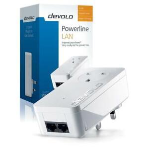 Devolo dLAN 550 Duo+ Powerline Pass Through Adapter - Single Unit