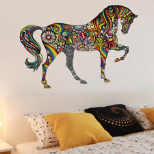 Colorful Animal Horse Wall Stickers Wallpaper Mural Art 3D Decals Decor Home
