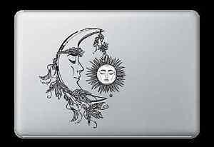 Moon Faith Sun Face Decal Sticker for Apple Mac Book Air/Pro Dell Laptop Graphic