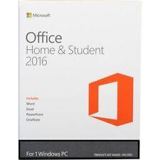 Microsoft Office Home and Student 2016 Vollversion für 1 PC - NEU