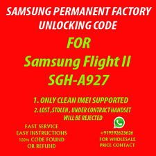 Samsung Flight II UNLOCK CODE AT&T NO OR OUT OF CONTRACT PHONE ONLY SGH A927