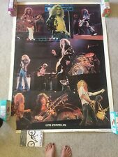 """Vintage 1978 Led Zeppelin Mega 58"""" x 42"""" Poster - Used - in fair condition!"""