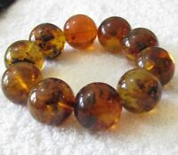 Dominican Amber Bracelet Beads Natural Stone Gem Authentic 23.70 mm (71.0 G)A767