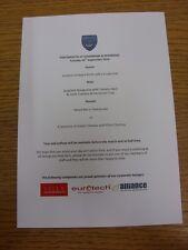 16/09/2014 Portsmouth v Dagenham And Redbridge - Match Day Hospitality Menu, A5