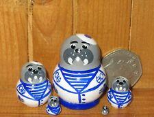Miniature Nesting Dolls Russian Matryoshka Tiny Walrus SAIRORS HOUSE ULYANOVA 5
