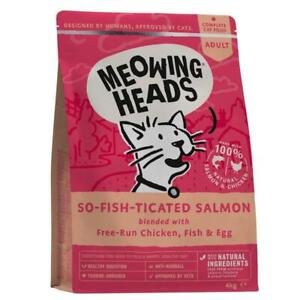 Meowing Heads So-Fish-Ticated Salmon Adult Dry Cat Food | Cats