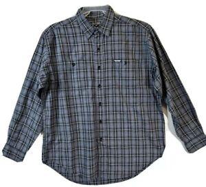 Polo Ralph Lauren Men Career Formal Plaid & Check Dress Shirt Size Large Gray
