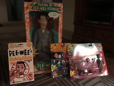 peewee herman bundle, many toys, talking doll, chair figure, new in box, Watch