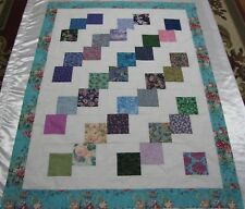 """PATCHWORK Quilt Top~PIECED~""""Falling Stones 2"""" Large Baby,Wall,Lap  44"""" X 58"""" USA"""