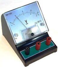 Bench TOP DC Voltmetro 0-3v / 0-15V Misuratore analogico ISTRUZIONE SCUOLE COLLEGE ETC
