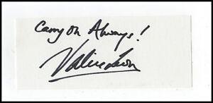Valerie Leon James Bond 007 Carry On Original Hand Signed Autograph Card & COA