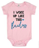 I woke up like Glitter Vest Babygrow Gift Baby Grow Clothes Bodysuit 100% Cotton