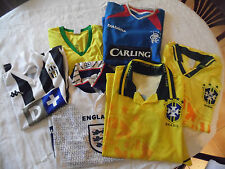 LOT MAILLOT FOOTBALL BRESIL ANGLETERRE JUVENTUS XL L