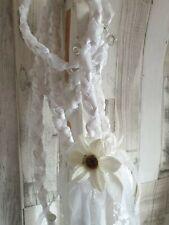 Handfasting ribbon lace Cord Wedding Hand fasting Binding Cord love white cream