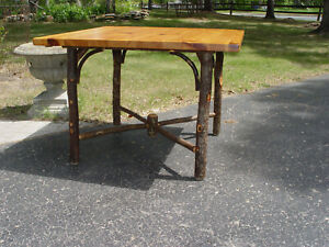 Vtg Old Hickory Rustic Kitchen Dining Table, Breakfast Nook Etc.