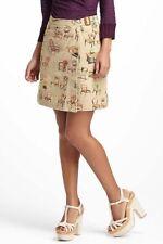 Anthropologie Postmark Chairs Canvas Wrap Skirt Furniture Print Short Mini Sz 12