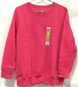 Hanes Women's Crewneck Sweatshirt Plus Size 1X Pink Heather 4A75 Size 16W