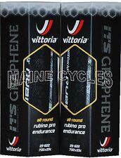 Vittoria Rubino Pro G+ Endurance Graphene 700 x 23 all black 2 tires / folding